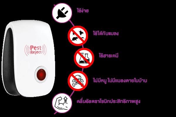 ประโยชน์ของ pest reject เครื่องไล่หนู แมลงสาบ ทำอะไรได้บ้าง